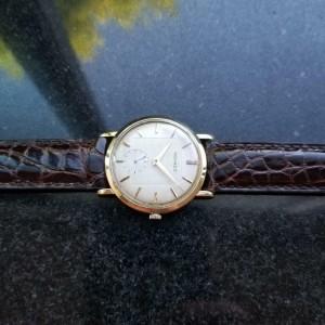 MOVADO Men's 1950s 18K Solid Gold 33mm Manual Wind Vintage Swiss Watch LV506