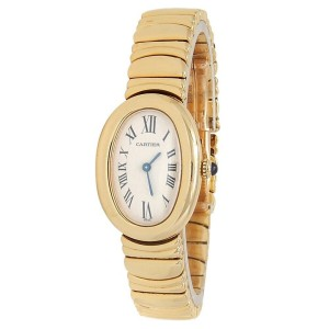 Cartier Baignoire 18k Yellow Gold Quartz White Ladies Watch 1954