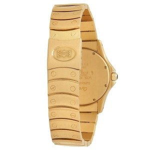Cartier Santos Ronde 18k Yellow Gold Automatic White Ladies Watch 1900