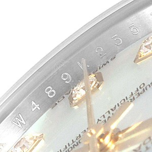 Rolex Datejust 26 Steel Yellow Gold MOP Diamond Ladies Watch 179383
