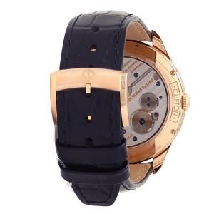 Baume & Mercier Clifton 18k Rose Gold Leather Manual Silver Men's Watch M0A10060