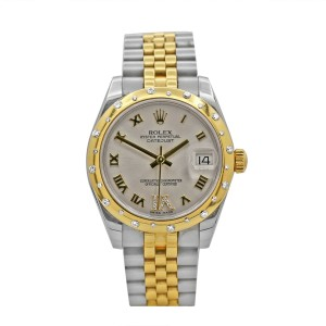 Rolex Ladies Datejust 31, Stainless Steel, 18k Yellow Gold, Silver Dial, 178343