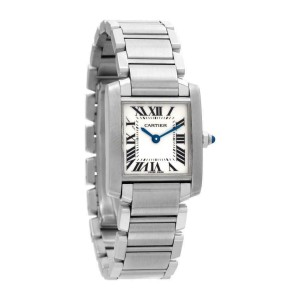 Cartier Tank Francaise W51008Q3 Steel 18.0mm Women's Watch