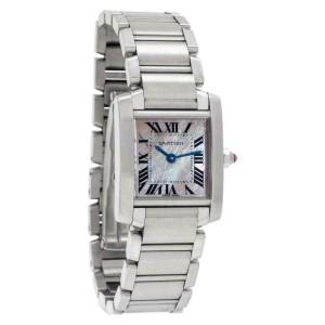 Cartier Tank Francaise W51028Q3 Steel 25.0mm Women's Watch