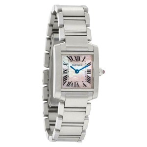 Cartier Tank Francaise W51028Q3 Steel 26.0mm Women's Watch