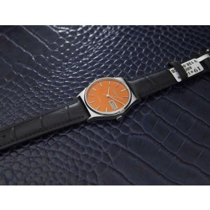 Mens Citizen 34mm Day Date Manual Wind Orange Dial, c.1970s Vintage J7081