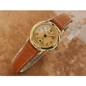 Ladies Technos 23mm Gold Plated Quartz Cocktail Watch, c.1980s Swiss J839