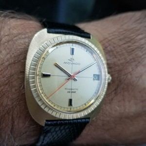Mens Movaod Kingmatic HS360 35mm 14k Solid Gold Automatic, c.1960s Swiss LV437