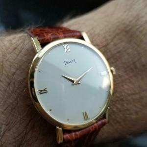 Mens Piaget cal.9P 32mm 18k Gold Hand-Wind Dress Watch, c.1970s Swiss LV641