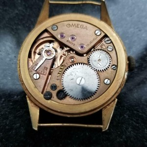Mens Omega cal.265 36mm 18k Rose Gold Hand-Wind Dress Watch, c.1950s Swiss LV715
