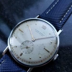 Mens Ulysse Nardin 37mm Hand-Wind Large Dress Watch, c.1950s Swiss Vintage LV776