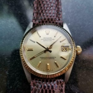 Midsize Rolex Oyster Datejust Ref.6827 31mm 18k Gold & SS Automatic, 1970s LV912