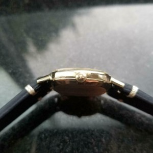 Mens Omega 33mm 14k Solid Gold Hand-Wind Dress Watch, c.1970s Vintage LV75BLU