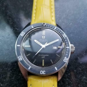 Mens Midsize Omega Seamaster 120 Diver Automatic w/Date c.1960s Vintage LV832YEL