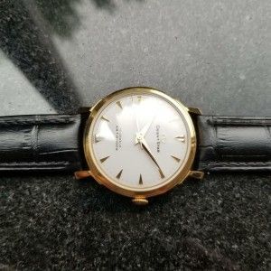 Mens Orient Star 34mm Gold-Plated Hand-Wind Dress Watch, c.1960s Vintage MO21