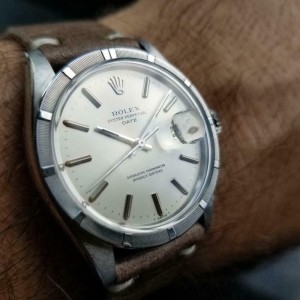 Mens Rolex Oyster Perpetual Ref.1501 35mm Date Automatic, c.1970s Swiss LV918TAN