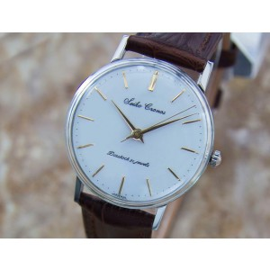 Mens Seiko Cronos 33mm Hand-Wind Dress Watch, c.1950 Vintage Q45