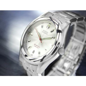 Mens Guess Waterpro 40mm All-Stainless Steel Quartz, c.2000s TD690