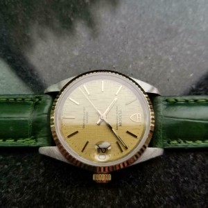 Mens Tudor Prince Oysterdate 32mm 14k & SS Automatic Watch, c.1990s MA157GRN