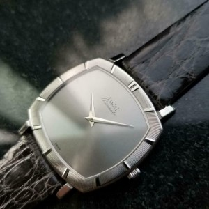 Mens Piaget 12423 33mm 18K White Gold Ultra-Thin Automatic, 1960s Swiss MS208GRY