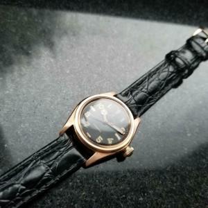 Mens Rolex Oyster 2595 29mm 14k Rose Gold Hand-Wind, c.1940s Vintage MS220BLK