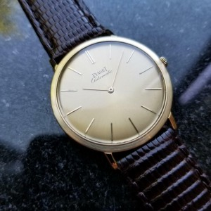 Mens Piaget Ref.12603 32mm 18k Gold Ultra-Thin Automatic, c.1960s Swiss LV387
