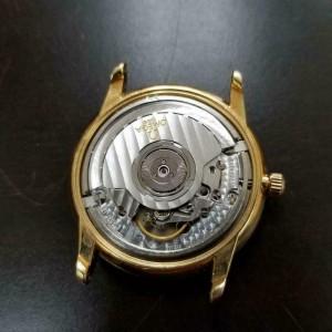 Mens Omega 35mm 18K Gold Date Automatic Dress Watch, c.2000s Swiss LV486BRN