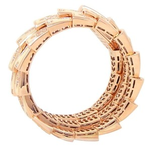 Bvlgari Serpeti 18k Rose Gold Enamels Quartz Diamonds MOP Ladies Watch SPP26G