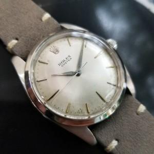Mens Rolex Oyster Ref.6424 36mm Hand-Wind Dress Watch, c.1960s Vintage MA171