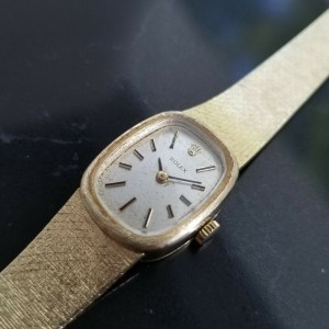 Ladies Rolex Precision 14k Solid Gold Hand-Wind Dress Watch, c.1970s Swiss MA189