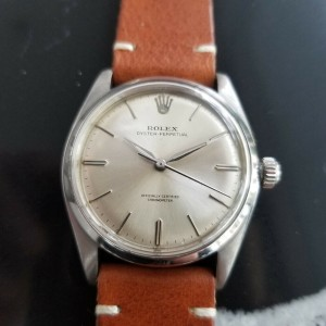 Mens Rolex Oyster Perpetual 6564 34mm Automatic Dress Watch, c.1950s MA192TAN