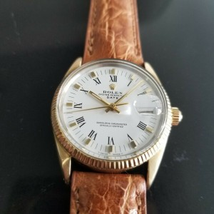 Mens Rolex Oyster Date Ref.1550 34mm Gold-Capped Automatic, c.1970s RA137TAN