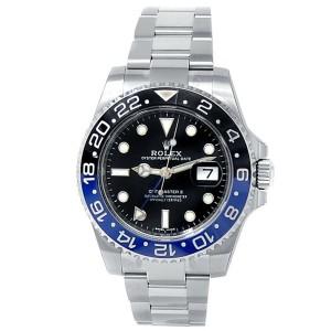 Rolex GMT-Master II Batman Stainless Steel Oyster Black Men's Watch 116710BLNR