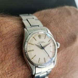 Midsize Rolex Oyster Perpetual 6549 30mm Automatic Watch, c.1950s Vintage RA144