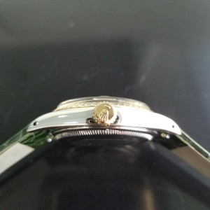 Mens Rolex Oyster Perpetual Date Ref.1500 35mm Automatic, c.1960s Swiss RA148GRN