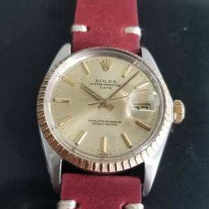 Mens Rolex Oyster Perpetual Date Ref.1505 35mm 18K & SS Automatic, c.1970s RA136