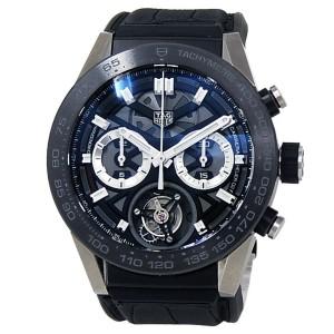 Tag Heuer Carrera Titanium Rubber Automatic Skeleton Men's Watch CAR5A8Y.FC6377