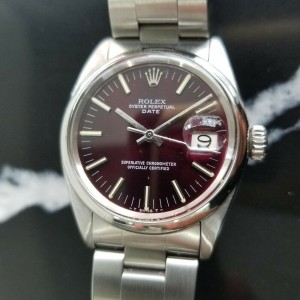 Mens Rolex Oyster Perpetual Date ref.1501 35mm Automatic c.1960s Vintage RA111