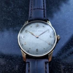 Mens Ulysse Nardin 36mm 18K Solid Gold 1960s Dress Watch Swiss Vintage LV733