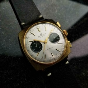 Mens Breitling Top Time 36mm Gold Plated Manual Wind 1970s Chronograph  LV444