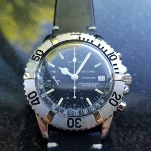 Mens Bucherer Sub Professional 40mm 1970s Automatic Chronograph Swiss MS114