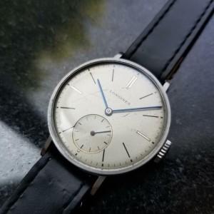 Mens Longines Calatrava 32mm 1950s Manual Wind Dress Watch Swiss Vintage MS116