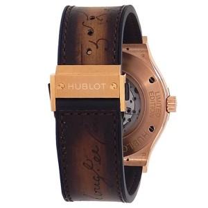 Hublot Classic Fusion Berluti Scritto Rose Gold Brown Watch