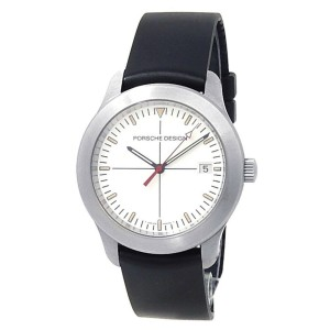 Porsche Design P6000 Series Stainless Steel Rubber Silver Men's Watch 6601.41