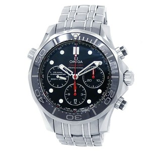Omega Seamaster Diver Stainless Steel Auto Black Men's Watch 212.30.42.50.01.001
