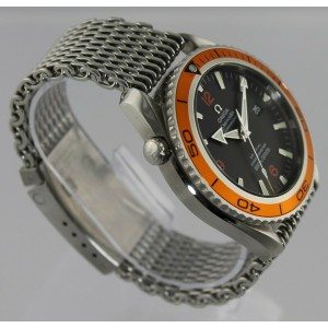 OMEGA SEAMASTER PLANET OCEAN XL 2908.50  AUTOMATIC CO-AXIAL DIVER MESH WATCH