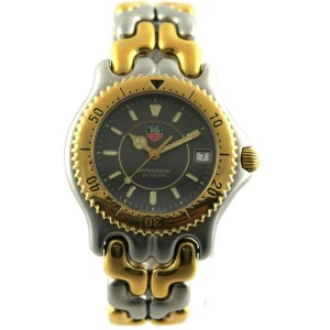 TAG HEUER SEL PROESSIONAL WG1120.BB0424 2TONE GOLD TONE S95.206 GRAY MENS WATCH