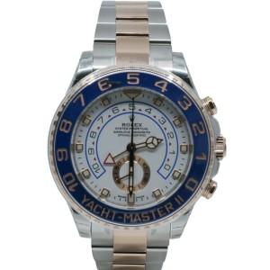 Men's Rolex Yacht-Master II, 44mm, 18k Rose Gold, Steel, White dial, 116681
