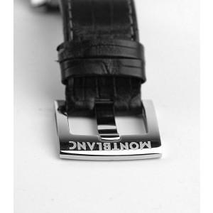 MONTBLANC TIMEWALKER STEEL 43mm AUTOMATIC CHRONOVOYAGER UTC WATCH 107336 NEW