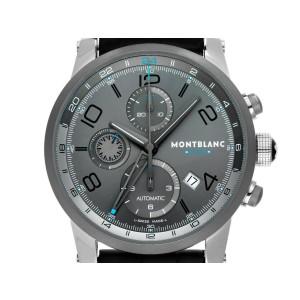 MONTBLANC TIMEWALKER STEEL 43mm AUTOMATIC CHRONOVOYAGER UTC WATCH 107339 NEW